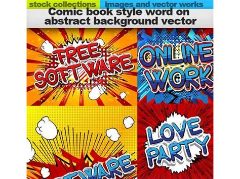Comic Book Style Word On Abstract Background Vector 15 X Eps Kho đồ Họa Premiere Pro Comic Book Template