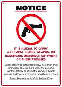 It is illegal to carry a firearm deadly weapon or dangerous ordnance