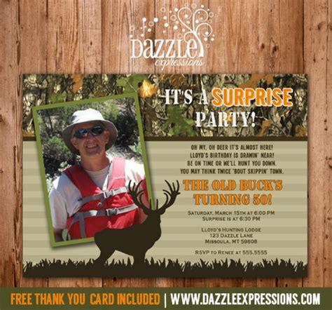 printable birthday card hunting printable hunting surprise birthday photo invitation