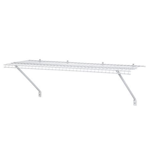 white wire shelving closetmaid 4 ventilated wire shelf white 1041100