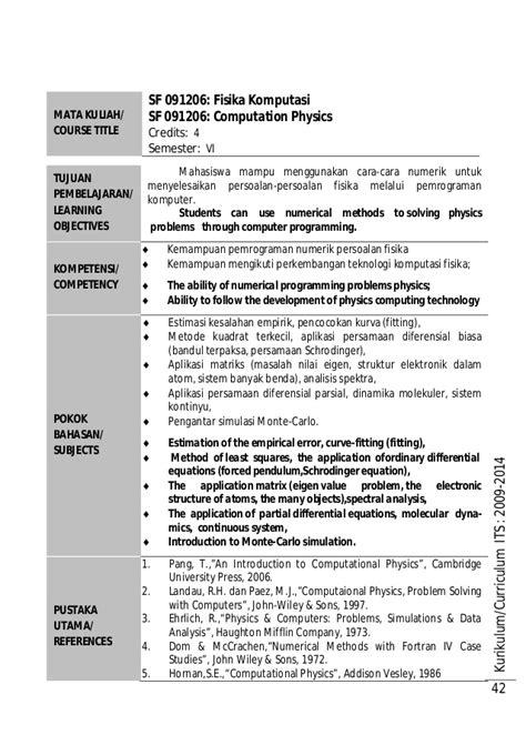 So Persamaan Diferensial Ed 3 silabus fisika indo 2009 2014 indo inggris