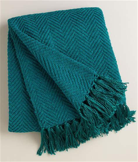 turquoise chenille sofa throw blanket pillows with fringe tassel blue vtg needlepoint pillow