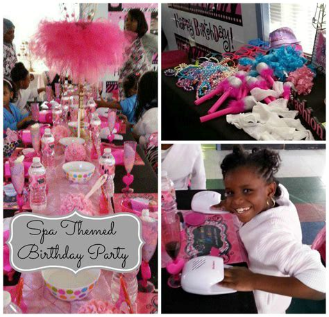 themed birthday parties for 11 year olds spa birthday party