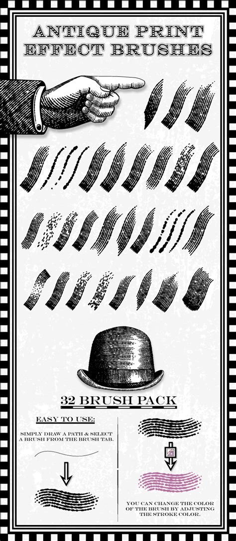 spray paint effect illustrator antique print effect brushes by jrchild 2 graphicriver
