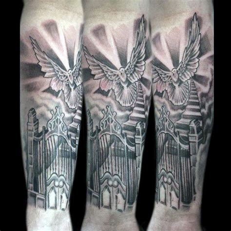 gates of heaven tattoo designs 50 heaven tattoos for higher place design ideas