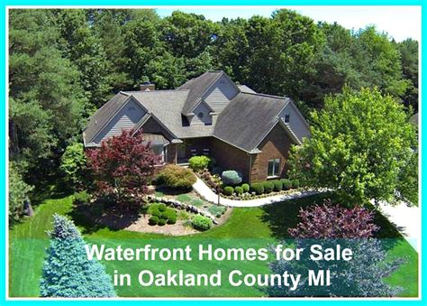 waterfront homes for sale in oakland county mi