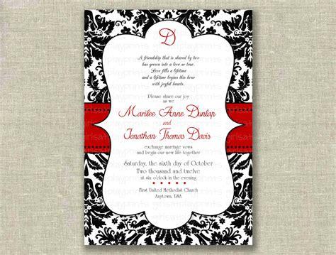 printable wedding invitations damask item details