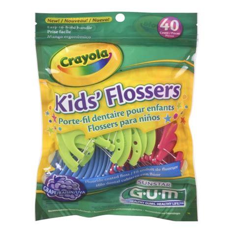 Dijamin Crayola Flossers Kid Floss buy gum crayola flossers in canada free shipping healthsnap ca