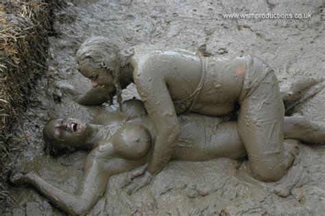 Boob jello mud oil sexy wrestling