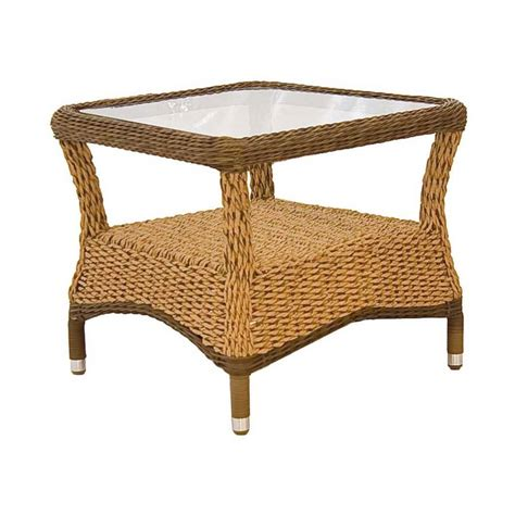 Rattan Side Table Hyacinth Rattan Side Table By Out There Exteriors Notonthehighstreet