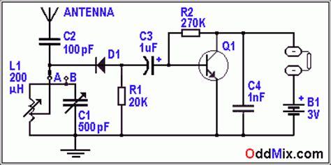 transistor lost function detector radio receiver one transistor audio lifier headphone set