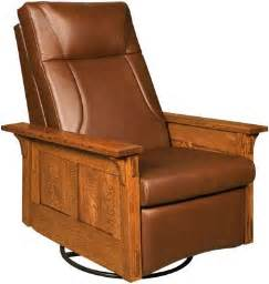 Mission Style Recliner Mccoy Swivel Rocker Recliner Indiana Amish Recliner