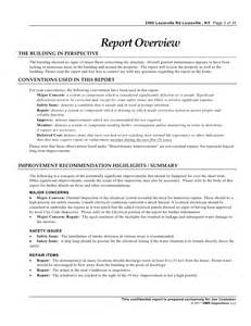 Engineering Inspection Report Template by Industrial Inspection Sle Report