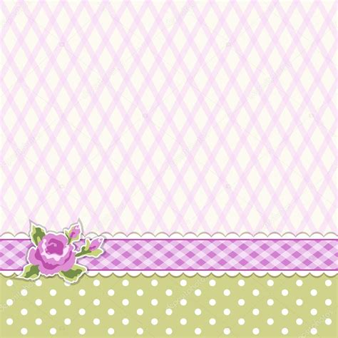 classic vintage striped background with textile ribbon