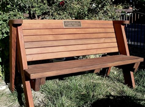 rustic park bench benches with plaques room ornament