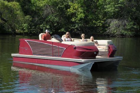 larson triumph boats larson launches escape pontoon line pontoon deck boat