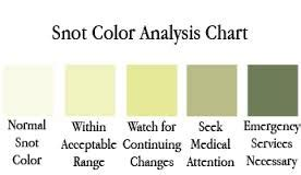 colors of snot sinusitis bronchiectasis