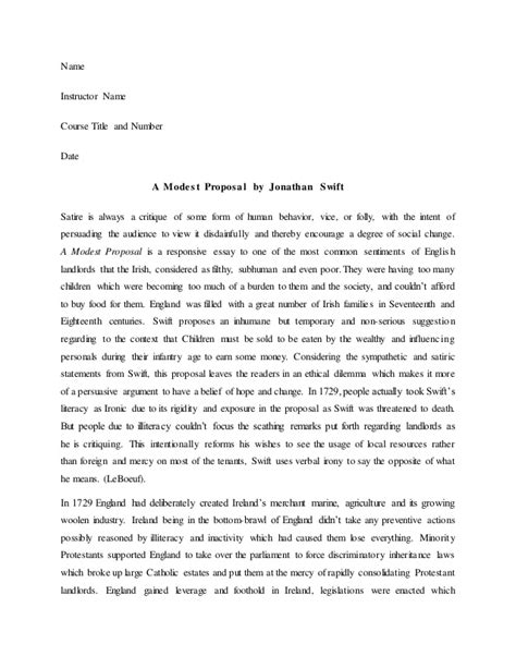 A Modest Essay a modest jonathan essay writefiction581 web fc2