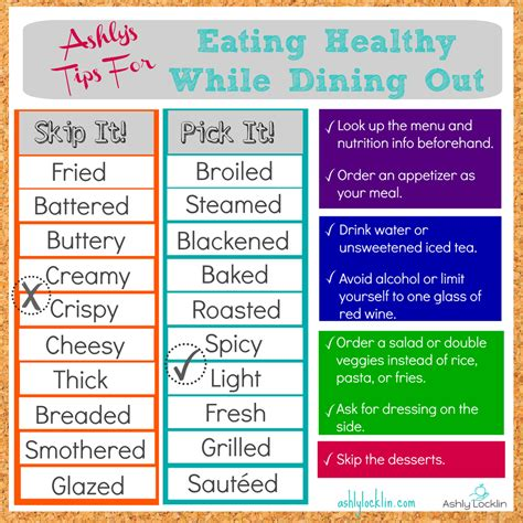 Healthy 07 Tips From Cosmo by Ashly Locklin Tips For Healthy While Dining Out