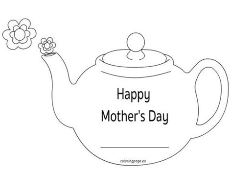 preschool mothers day card template mothers day teapot card preschool teapot