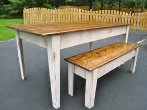 Kitchen Tables Benches White Modern Farmhouse Kitchen Table With Bench Diy Projects