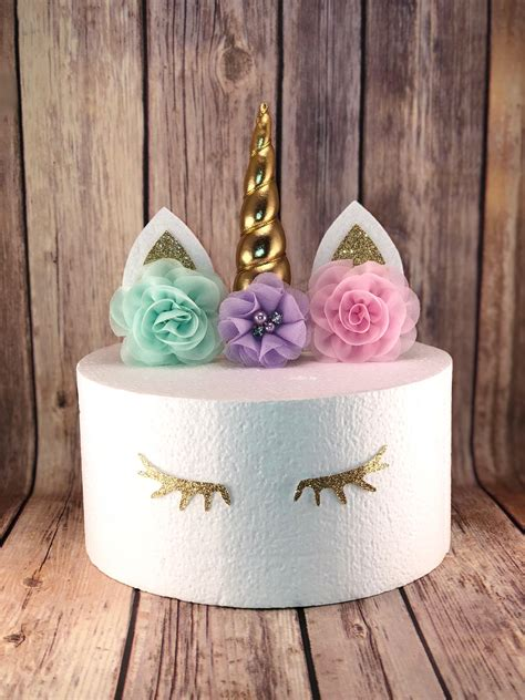 unicorn eyelashes unicorn cake topper decoration unicorn