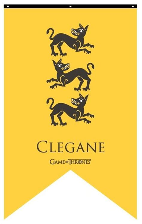 house clegane house clegane banner flags banners game of thrones gifts collectibles tv shows movies
