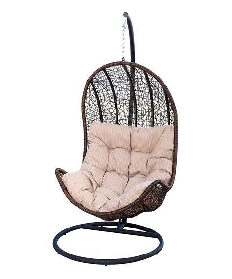 chair swings tan wicker outdoor swing chair