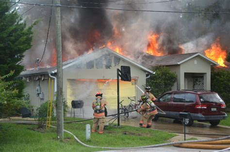 the house was on fire fire consumes seminole woods house that belongs to a family of four flaglerlive
