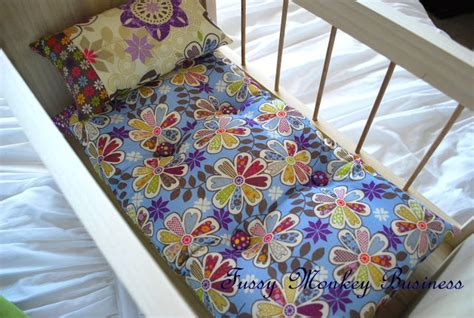 actil actil quilt pillow bed topper fussy monkey business 18 quot doll bed quilt pillow and a