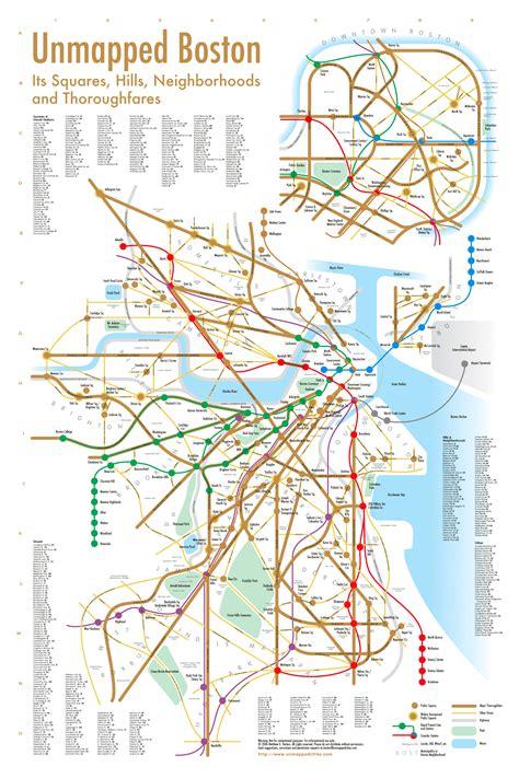 boston transit map the walking bostonian square hopping by