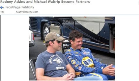 country music video with nascar driver country singer rodney atkins and nascar driver michael