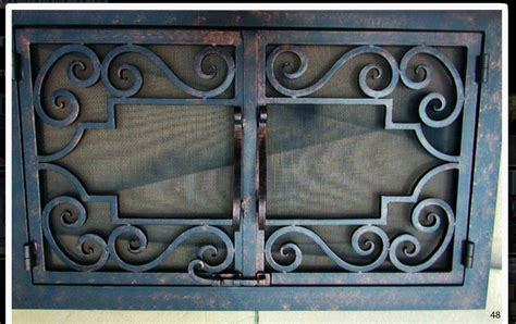 Iron Fireplace Doors by Forged Iron Fireplace Doors Fd048 From Mantel Depot