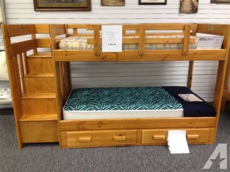 All Wood Bunk Beds Bunk Bed Set With Reversible Stairs All Wood 2 X 6 Quot For Sale In Davenport Iowa