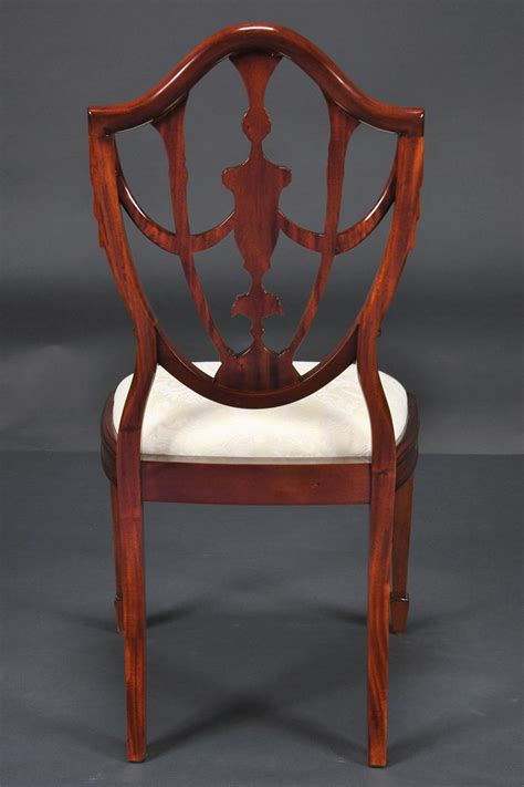 Shield Back Dining Room Chairs by Prince Of Wales Mahogany Carved Shield Back Dining Room Chairs