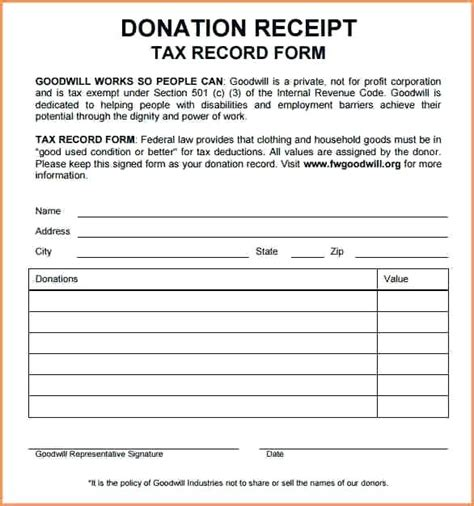 docs donation receipt template donation receipt template donation receipt template free