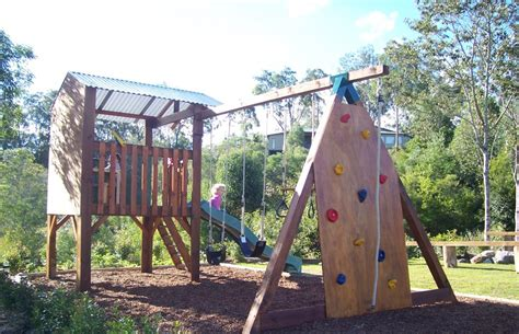 cubby house swing set choosing a swing set for your family blog my cubby