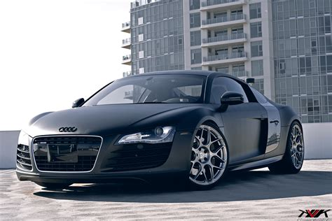 Audi R8 Schwarz by Matte Black Audi R8 On Hre P40sc S By Kvk Photography