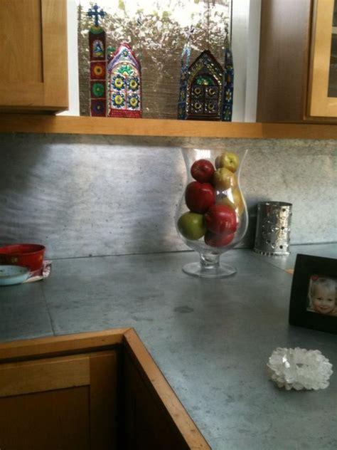 metal roofing backsplash sheet metal counter and backsplash for kitchen