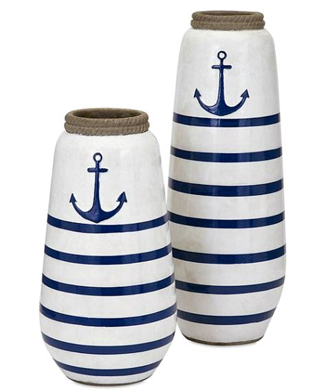 Nautical Vases nautical home accessories for inside out a salute to the classic nautical colors of blue