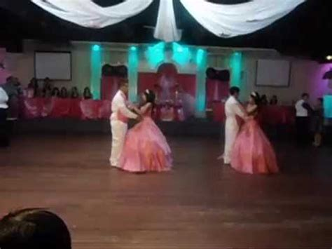 quinceanera themes for twins twins entrance waltz choreography by julie youtube