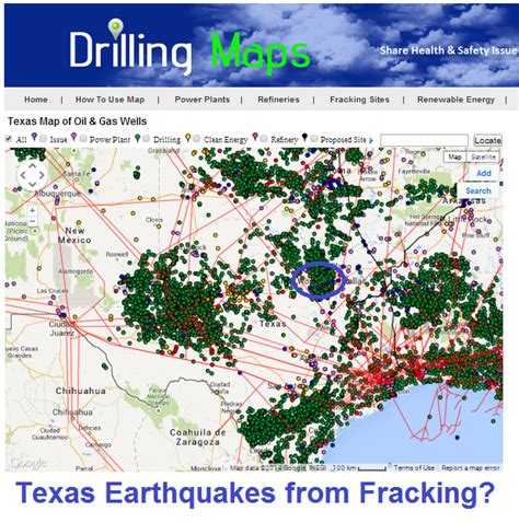 fracking in texas map drilling maps texas earthquakes from fracking