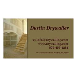 drywall business cards drywall sided standard business cards pack of 100 zazzle