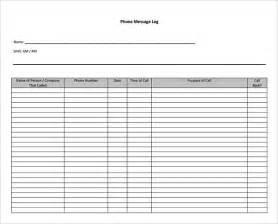phone log template 9 phone message templates free for word excel