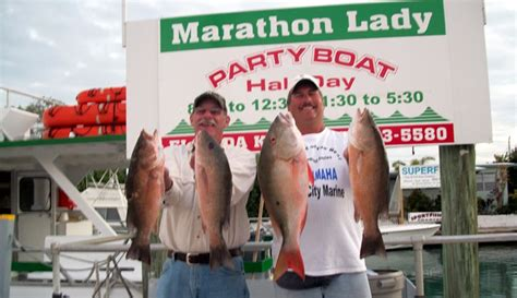 party boat fishing marathon key marathon lady the finest party boat fishing in the
