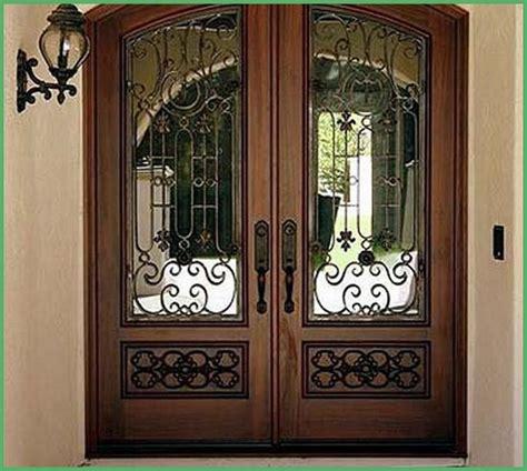 exterior wrought iron doors wrought iron wood entry doors interior home decor