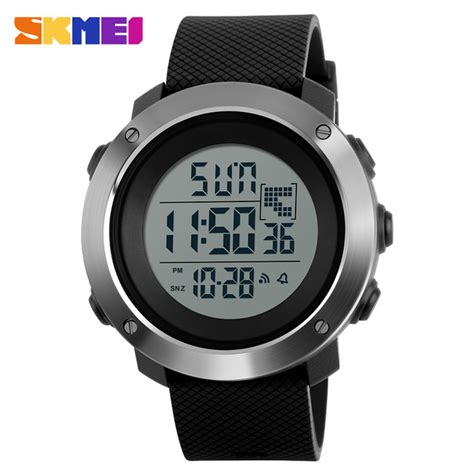 Jam Tangan Sport Digital Suunto Black skmei jam tangan digital pria size big dg1267 black
