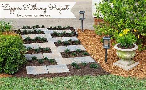 home depot yard design creating a paver stone quot zipper quot pathway with the home