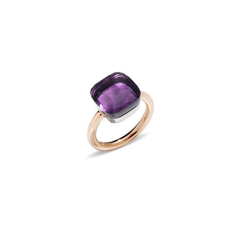 pomellato ring nudo pomellato ring nudo in metallic lyst