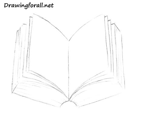 How To Draw A Book Drawingforall Net Drawing Pages